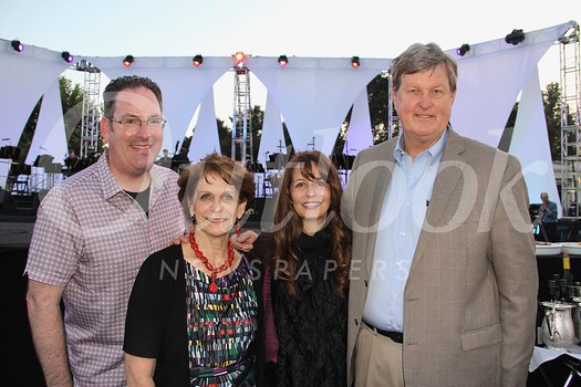 Randy Shulman, Huntington Library President Karen Lawrence, Artistic Director Rachael Worby and Peter Lawrence