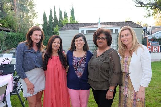 Event co-chair Una Battaglia, Dina McCall, Bernadette Hotaling, Allison Byrne and Elizabeth Karr
