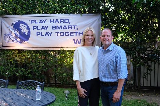 Event hosts Stacey and Joe Conzonire