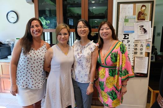 Darlene Osmonson, event host Mary Hsu, Ming Jiang and Ginny Hsiao