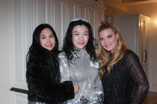 Co-chairs Maria Manibog, Vivian Lu and Elizabeth Karr