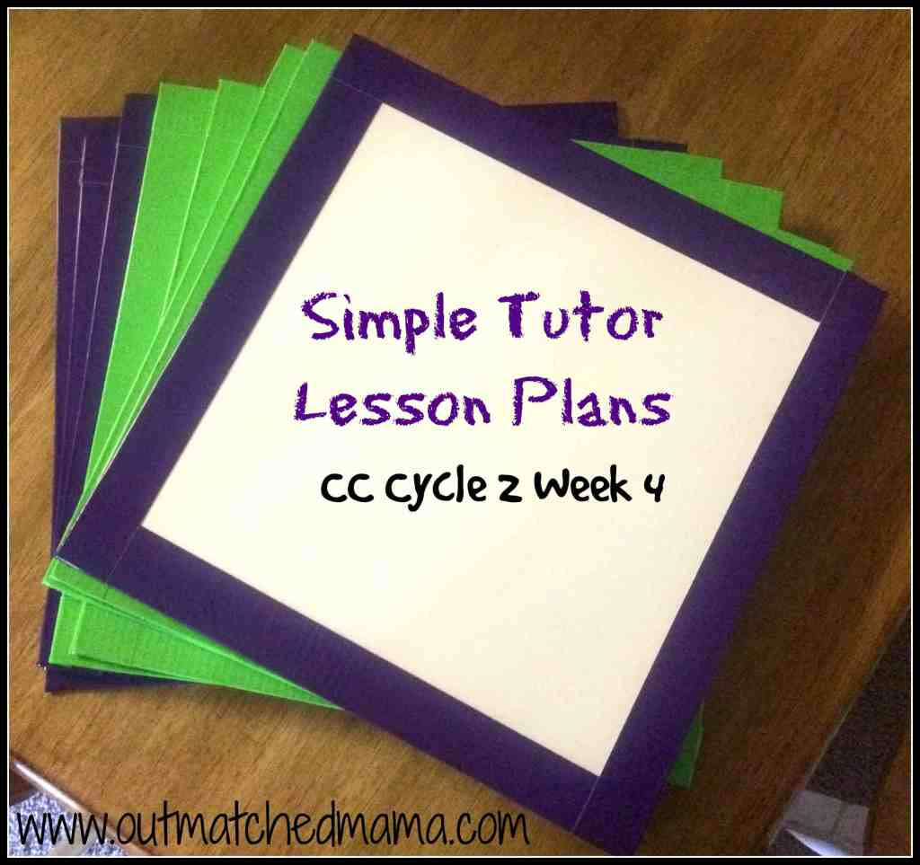 Simple Tutor Lesson Plans CC Cycle 2 Week 3
