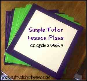 simple tutor lesson plans cycle 2 week 4