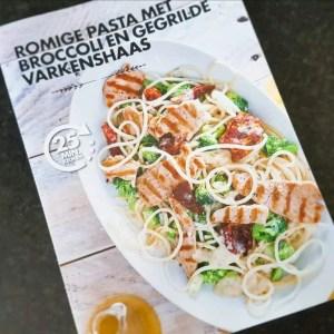 Romige pasta met broccoli en gegrilde varkenshaas