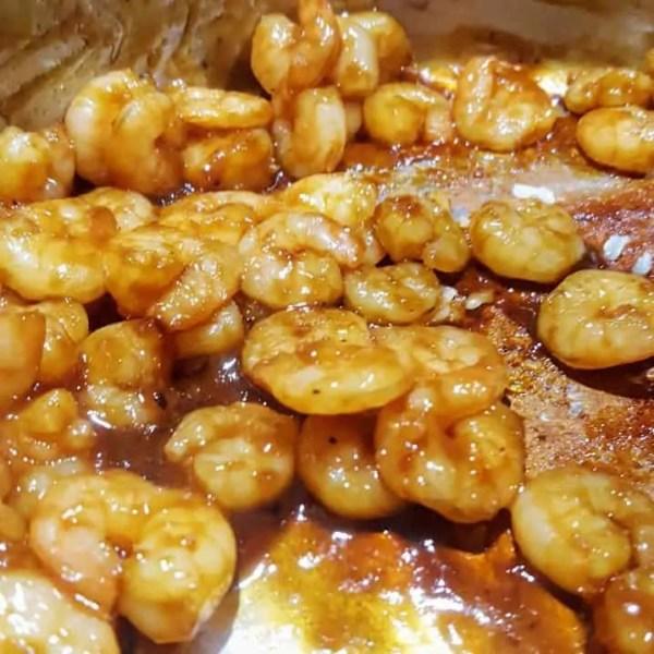 Hoisin Garnalen met rijst en roerbakgroente