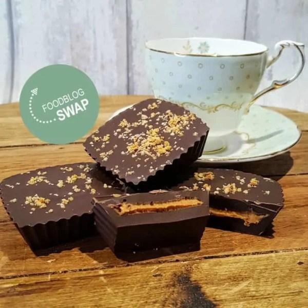 Foodblogswap tijd: pindakaas/chocolade bonbons