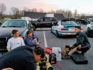 Madison Motorsports students working on car