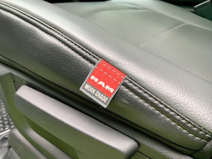 2019 Ram 2500 Tradesman Work Grade vinyl seats