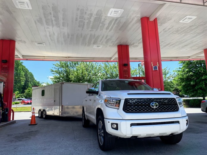 2019 Toyota Tundra at gas station
