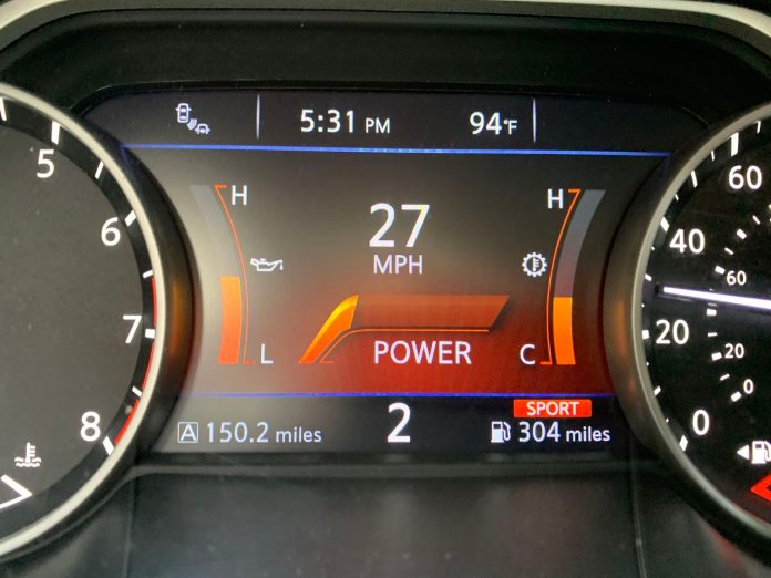2019 Nissan Maxima SV power gauge