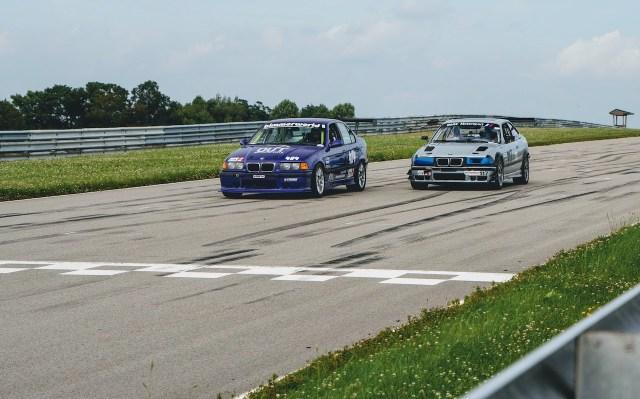 Pitt Race E36 M3s racing