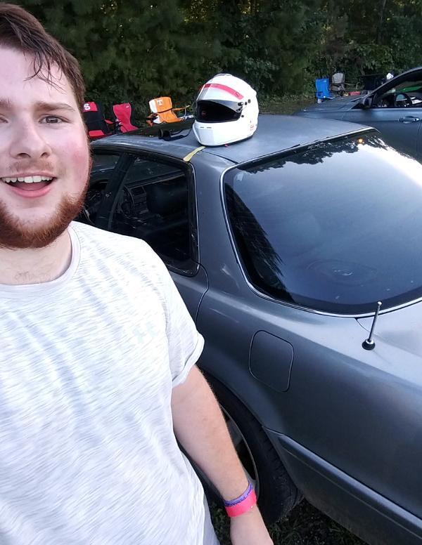 Dillon selfie with Acura Vigor
