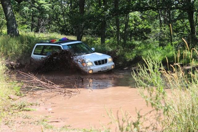 Subaru Forester through mud