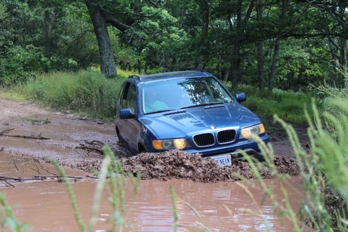 BMW X5 through mud