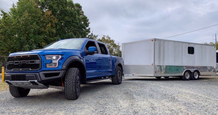 F150 Raptor enclosed trailer