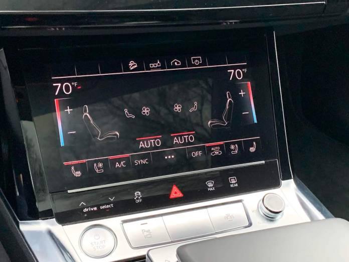 Audi E-Tron climate control