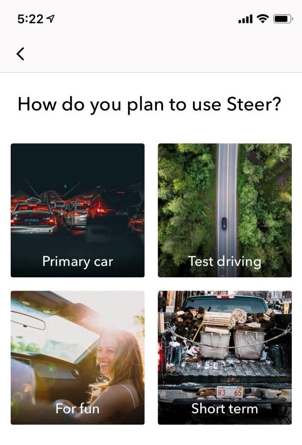Steer EV app