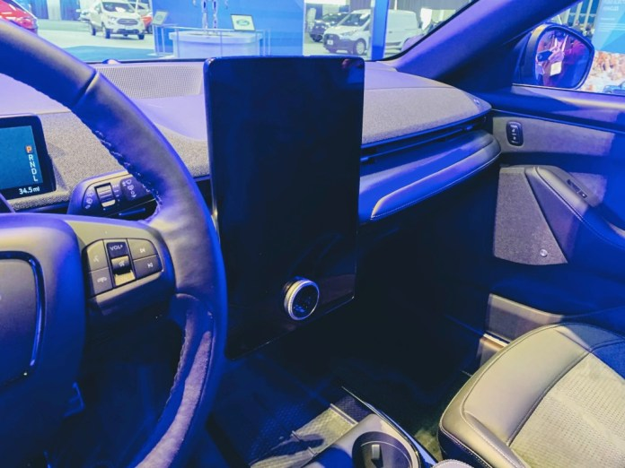 Mustang Mach-E center screen