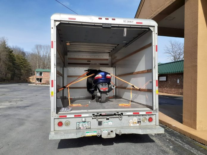 Suzuki Burgman in the U-Haul