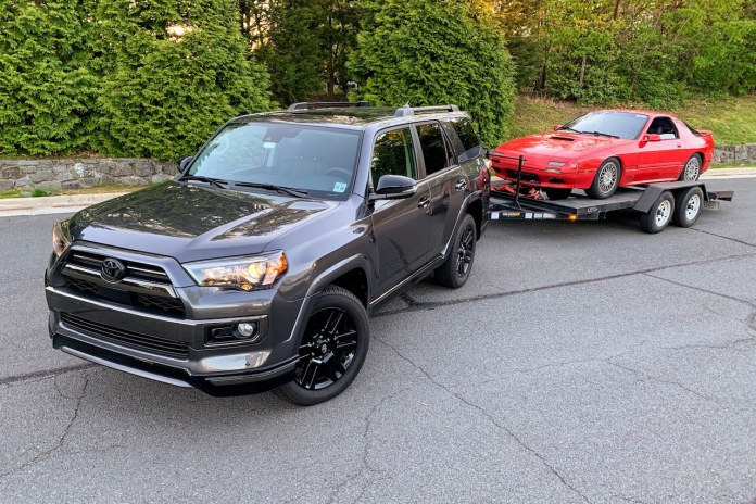 2020 Toyota 4Runner Nightshade towing