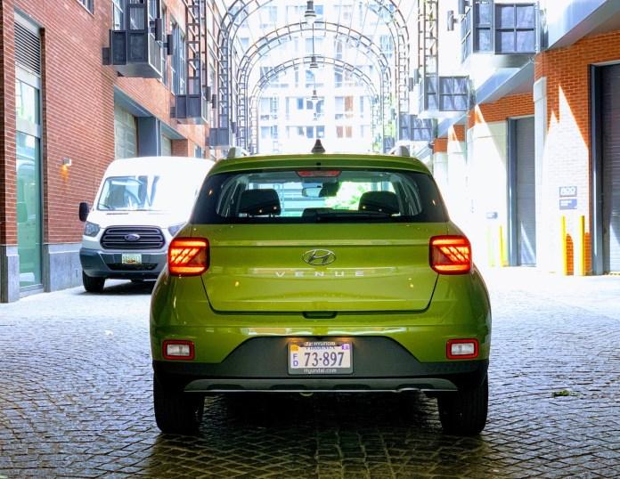 2020 Hyundai Venue Green Apple rear