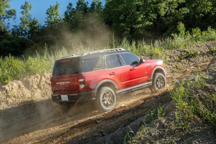 2021 Ford Bronco Sport Badlands red