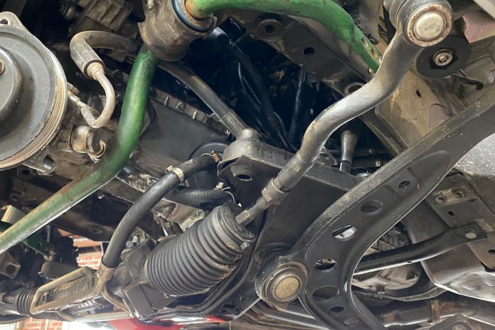 E36 M3 tie rod bent