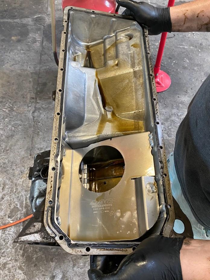 E36 M3 VAC oil pan baffle