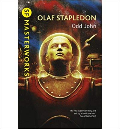 The cover of science fiction book Odd John by Olaf Stapledon.