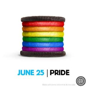 Oreo supports gay pride with a rainbow cookie