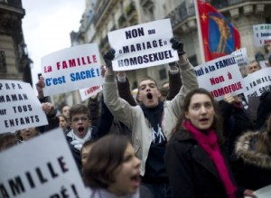 Clashes in France over gay marriage