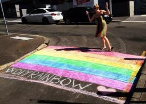 DIY rainbow pedestrian crossings appear around the world