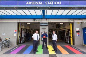 TfL Unveils Arsenal's Rainbow Crossing