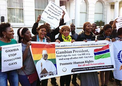 Gambia anti-gay bill Protest London