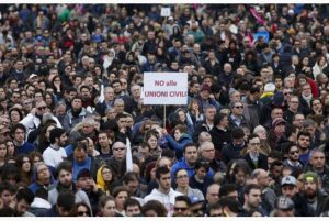Thousands Gather To Protest Gay Rights In Italy