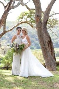 Australian netballer Ashleigh Brazill weds fiance Brooke Grieves