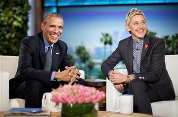 Ellen Degeneres and Barack Obama
