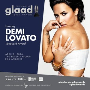 Demi Lovato to be honoured at the GLAAD Media Awards in LA