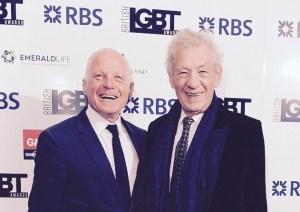 Sir Ian McKellen among those honoured at British LGBT Awards