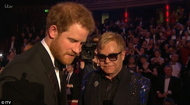 Elton John and Prince Harry AIDS
