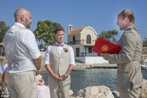 Same-sex couple become first to get married on British military base in Cyprus
