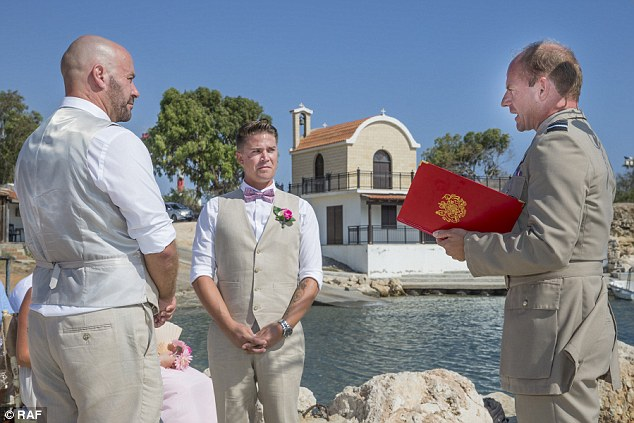 same-sex wedding British army