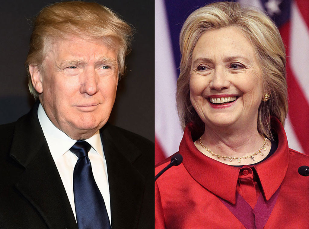 Trump and Clinton US election