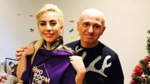La Gaga visits UK LGBT homeless charity