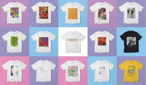 Top artists create T-shirts to raise funds for HIV charity.