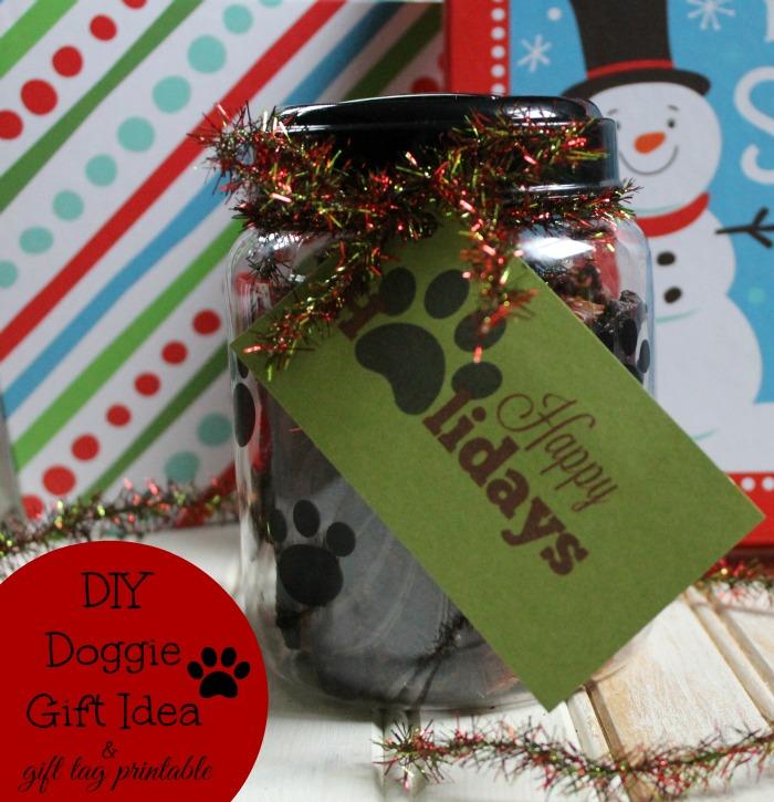 DIY Doggie Gift Idea Plus Paw Printable Gift Tag & Giveaway #MakingDogsSmile