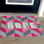 Pink Ribbon Welcome Mat Fights For A Cure