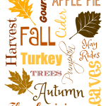 Printable Frameable Fall Artwork