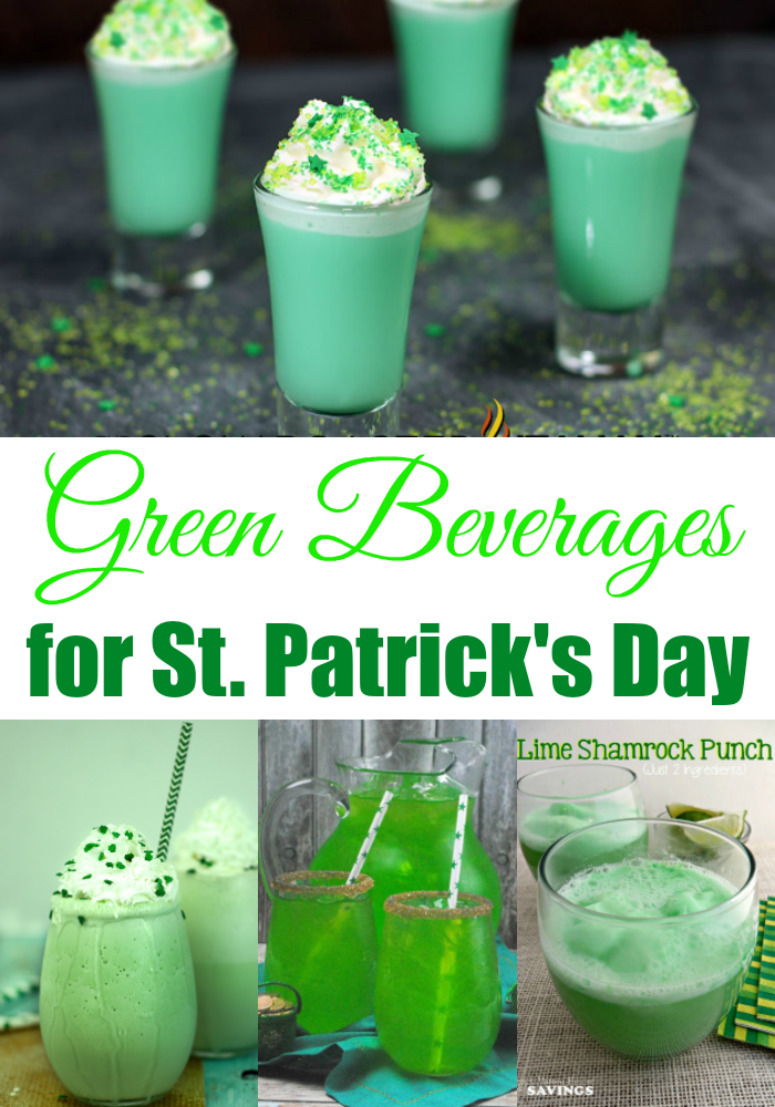 Green Beverages for St. Patrick's Day