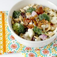 Easy Prep Ahead Broccoli Cauliflower Salad & a Giveaway!